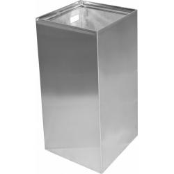 Odpadkový koš hranatý 25 l - závěsný, mat, 250x250x500 mm pravý