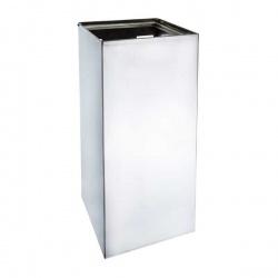 Odpadkový koš hranatý 45 l - závěsný, mat, 250x300x600 mm